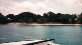 Picture of beach from boat